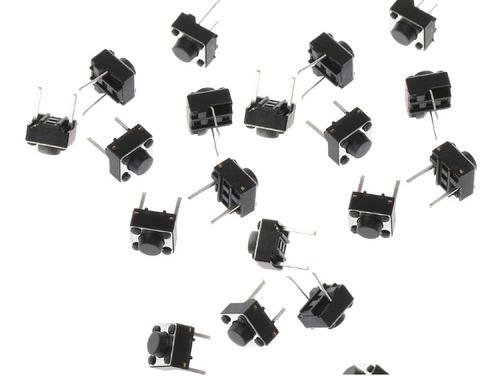 pack 50 unidades pulsador tact switch 2 patas 2 pines 6x6x5