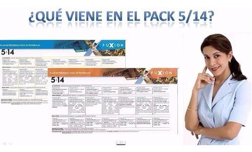 pack 5/14 mejorado tienda fuxion baja 5 kilos en 14 días