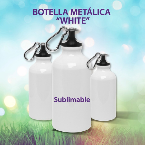 pack 6 botellas agua sublimable 400cc