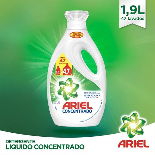 pack 6 botellas detergente ariel power liquid 1,9 lt