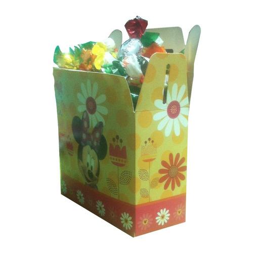 pack 6 cajas de sorpresa minnie mouse cumpleaños cotillón