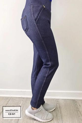 pack 6 calzas jeans con chiporro invierno. envio gratis