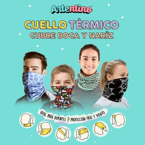 pack 6 cuello térmico cubre tapa boca barbijo adulto niños