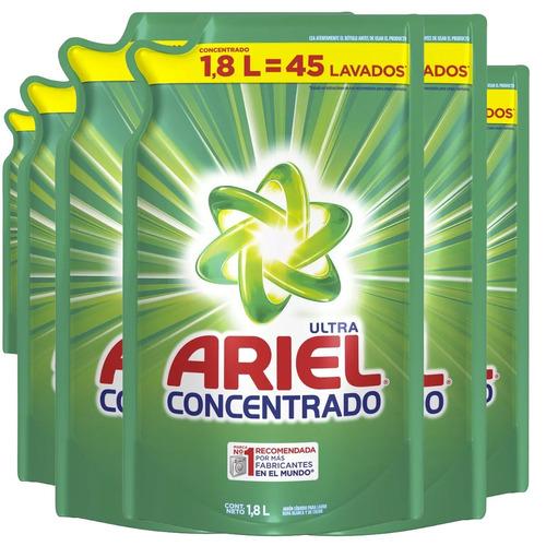pack 6 detergente ariel concentrado ultra, 1.8 litros - 45