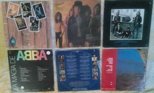 pack 6 discos de vinil de rock acdc - abba - bob marley