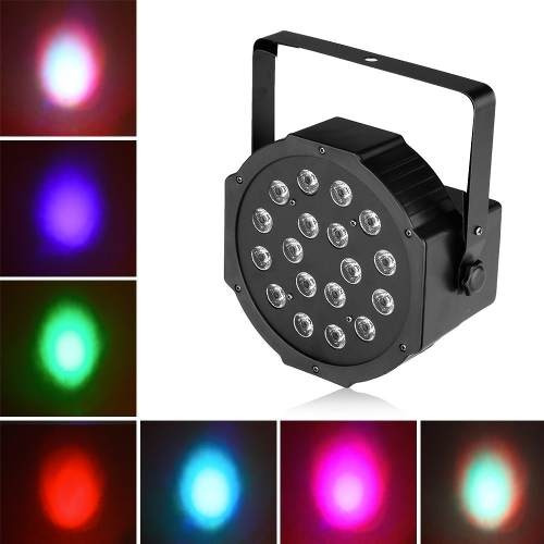 pack 6 foco par led 18 leds x 3 watts rgb dmx/onlineclub