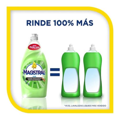 pack 6 lavaloza concentrado magistral aloe 750 ml