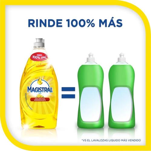 pack 6 lavaloza concentrado magistral limón 750 ml