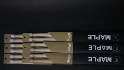 pack 6 pares de baquetas 7a stagg maple