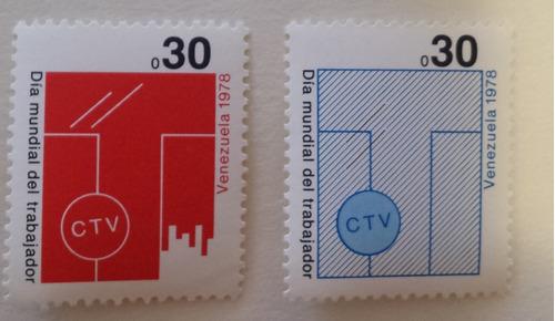 pack 6 sellos venezuela 1974, 1976, 1978