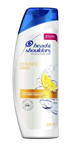 pack 6 shampoo head&shoulders control de grasa 375 ml