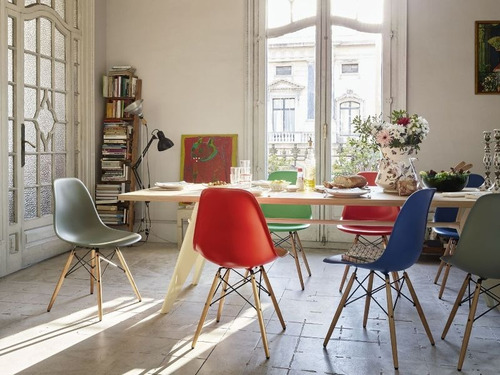 pack 6 sillas eames diseño moderno comedor - varios colores