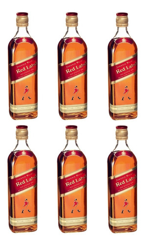 pack 6 unidad whisky johnnie walker red label reserve 750ml