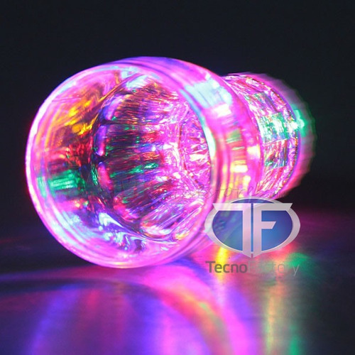 pack 6 vasos luminosos grandes led
