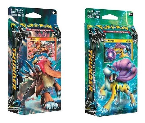 pack 60 cartas pokemon en caja lost thunder sol y luna