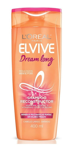 pack 6x shampoo elvive dream long l'oréal paris