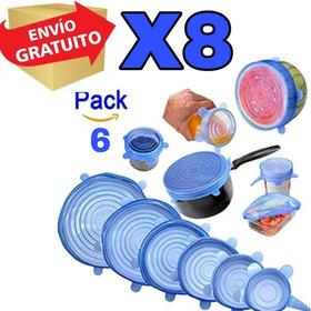 Pack 8 Pack De Seis Tapas De Siliconas Cada Uno Envio Gratis