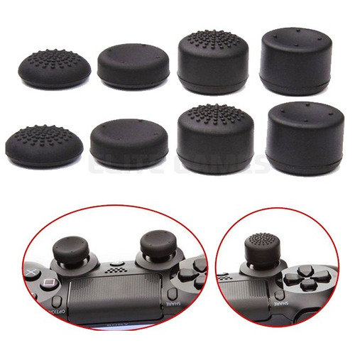 pack 8 piezas thumb grips altos gamer tipo kontrol freeks