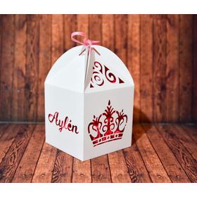Pack 80 Cajas Caladas Corona Personalizadas