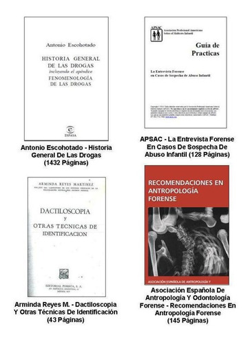 pack a - 32 libros pdf criminalística y ciencias forenses