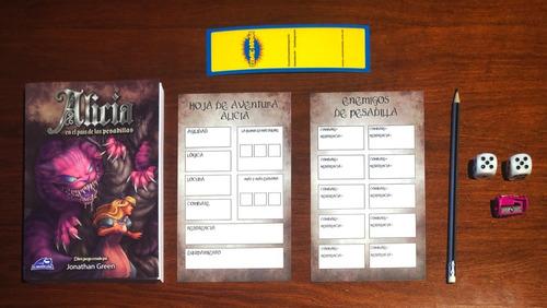 pack alicia pais pesadillas - dragon azul - libro juego rol