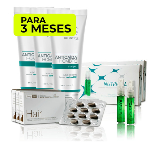 pack anticaída hombre (3 meses) hair recovery