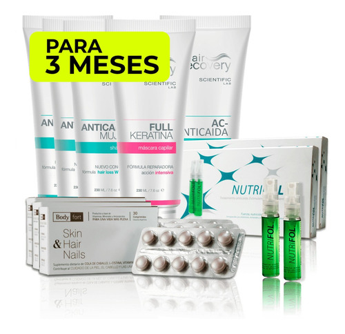 pack anticaída mujer (3 meses) hair recovery