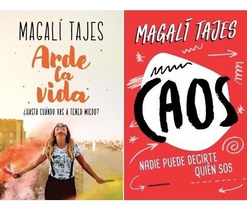 pack arde la vida y caos (2 libros) - magalí tajes
