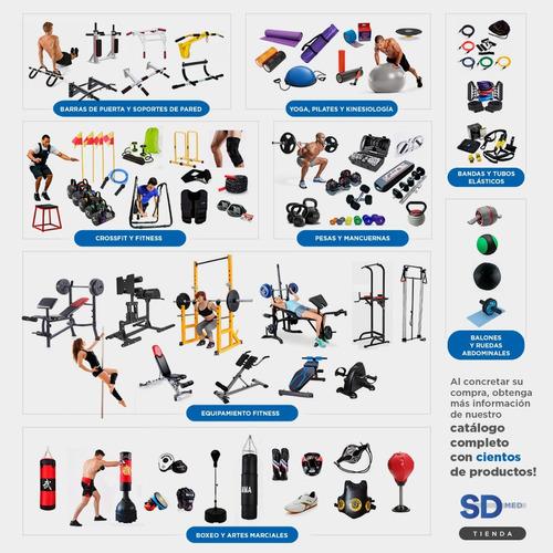 pack barra curva + 40 kg en discos - fitness  mancuernas