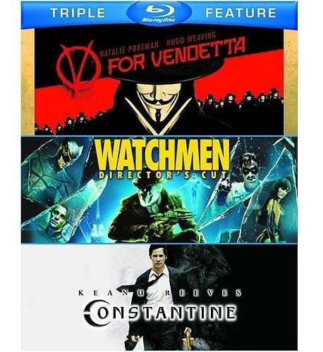 pack blu ray - v for vendetta - watchmen - constantine