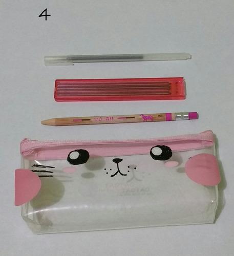 pack  bolsa lapicera, pluma, lapicero 2.0 y +  estilo kawaii