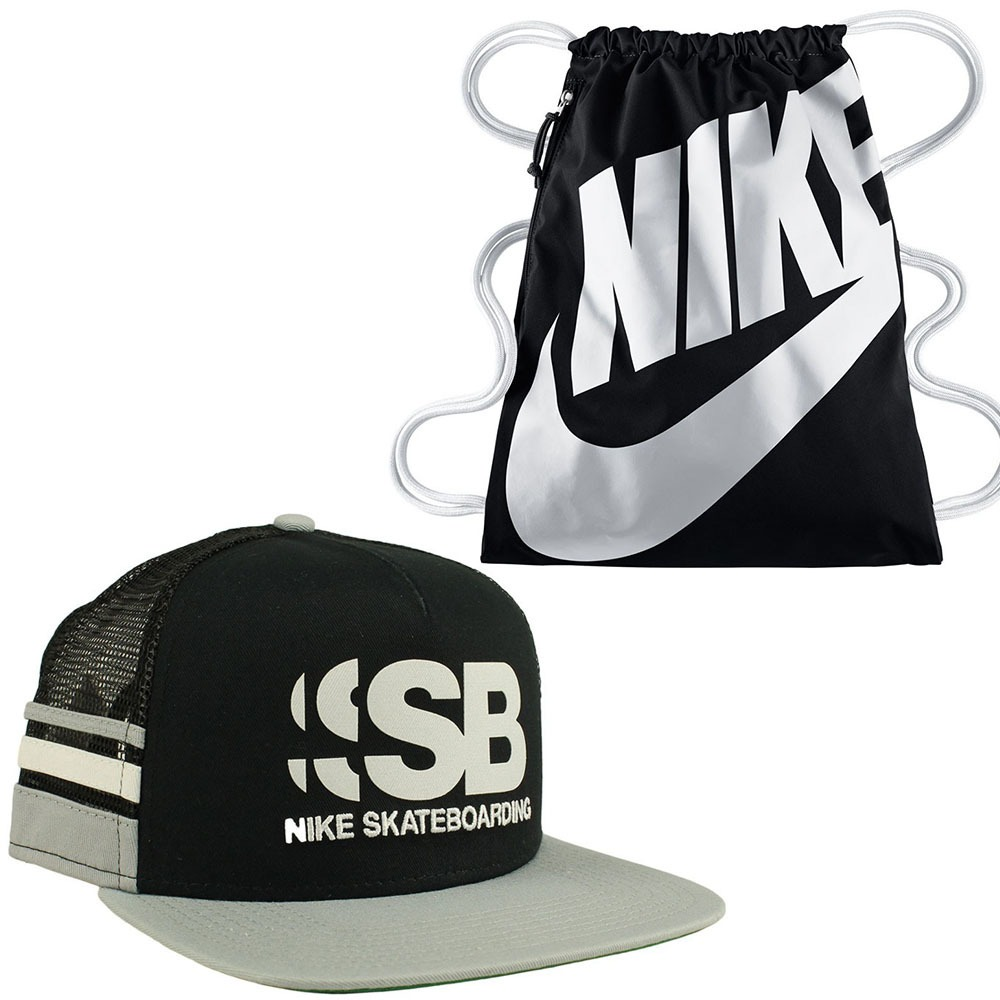 a47df16cd9981 Pack Boné Nike Sb Cut Trucker Skate+ Sacola Original C  Nfe - R  199 ...
