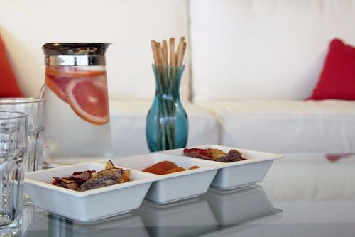 pack bowl y plato aperitivo 3 divisiones