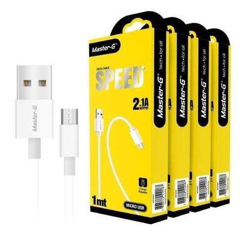 pack cable de carga para android master g ( 4 unidades )