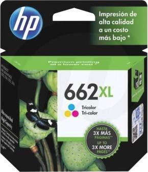 pack cartucho hp 662 xl negro y color originales nuevos envi