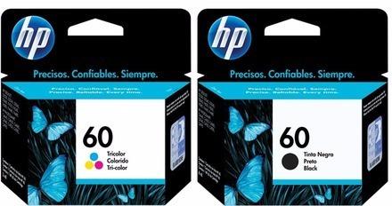 pack cartuchos hp 60 negro colores impresora 4480 4680 4780