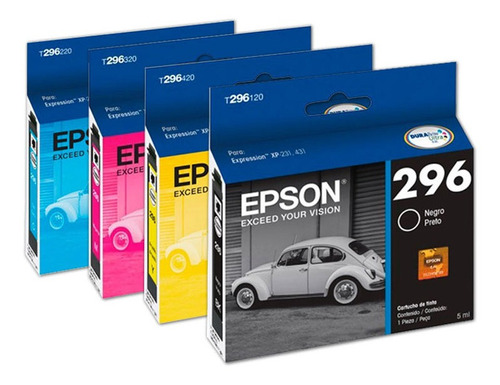 pack cartuchos originales epson t296  xp231 xp241