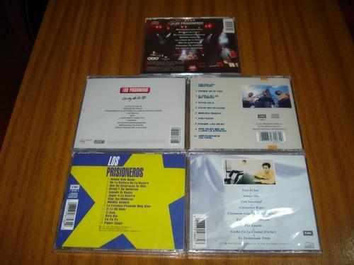 pack cd los prisioneros / 5 cds (nuevo y sellado)