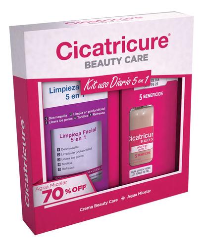 pack cicatricure crema beauty care + agua micelar