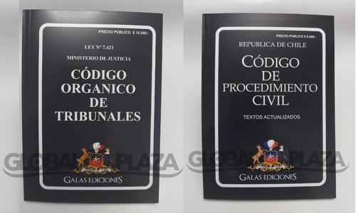pack codigo organico de tribunales + c procedimiento civil