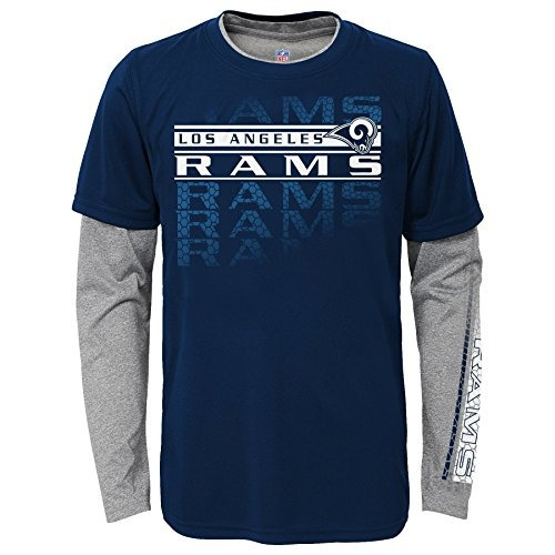 pack combinado de camiseta los angeles rams nfl boys youth i