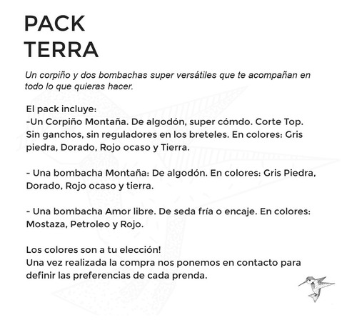 pack corpiño top + dos vedetinas algodon encaje once talles