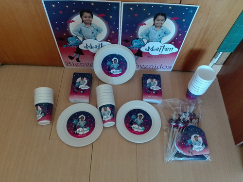pack cotillon personalizado 30 party vampirina+souvenirs