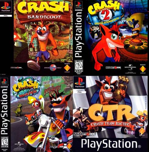 pack crash (incluye crash bandicoot 1 2 3 ctr) ps3 digital