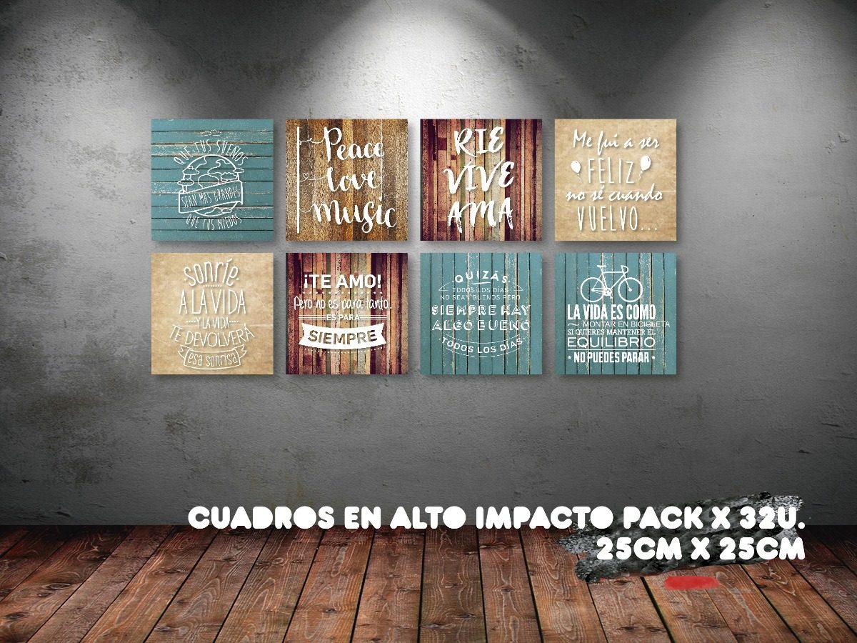 Pack Cuadros Frases En Alto Impacto Full Color X 32u