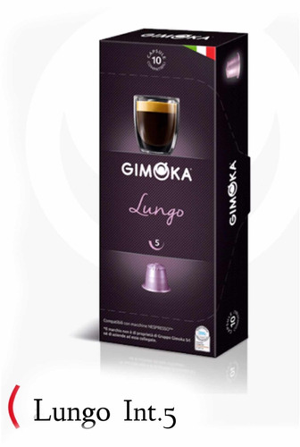 pack de 10 cajas de cápsulas compatibles nespresso - gimoka
