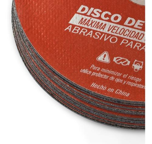 pack de 10 discos de corte abrasivos para metal omaha