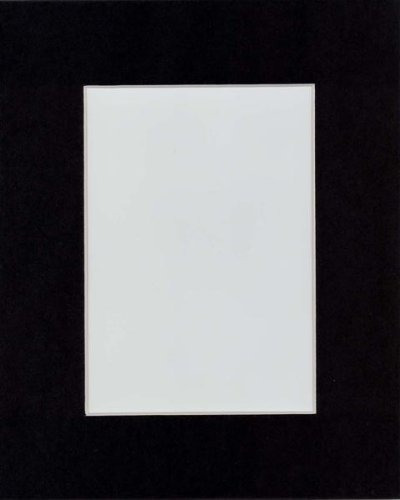 pack de 10 esteras con pantalla negra 16x20 con bisel blanco
