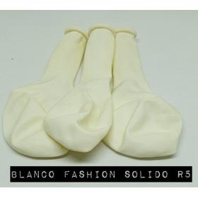 Pack De 10 Globos Blanco Fashion Solido De 5´´ Importado,