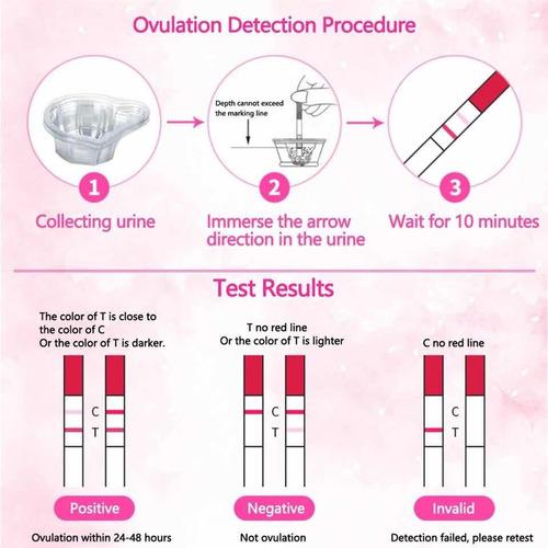 pack de 10 pruebas de embarazo